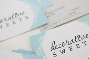 Decorative Sweets Business Cards